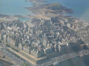 Saint Malo vu du ciel
