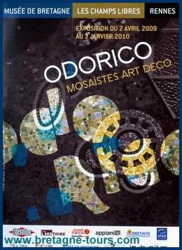 Affiche de l'exposition d'Odorico aux Champs Libres à Rennes