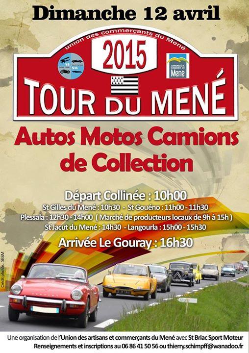 Affiche du tour du Méné en voitures de collection