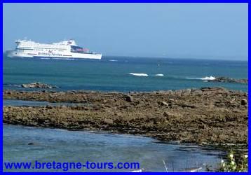 Ferry en partance de Roscoff