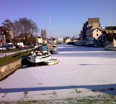 Canal Saint Martin sous la neige