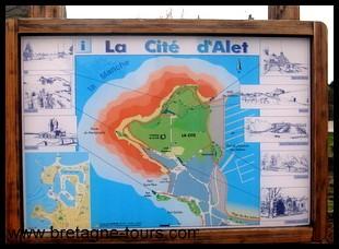 carte d'Aleth à Saint Servan