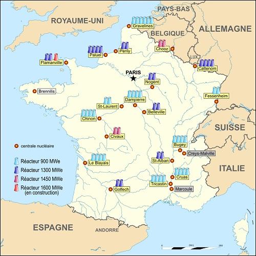 Le nucléaire est partout en France