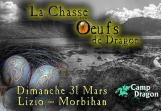 Chasse aux oeufs de dragons dans le camp du dragon à Lizio