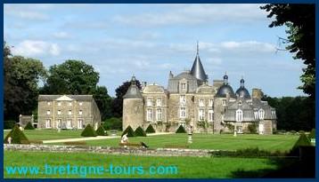Chateau de la Bourbansais, entre Rennes et Saint Malo
