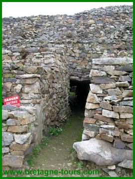 Couloir d'une des chambres de Barnenez