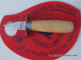 Couteau à huitre et gant de protection