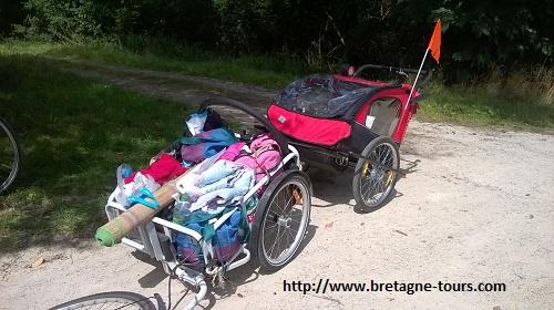 Double remorque -carriole à vélo