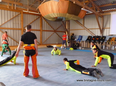 exercices d'entrainement au parachutisme