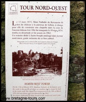 Panneau explicatif du site de Léhon