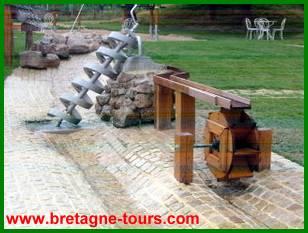 Jeux d'eau des jardins de Brocéliande