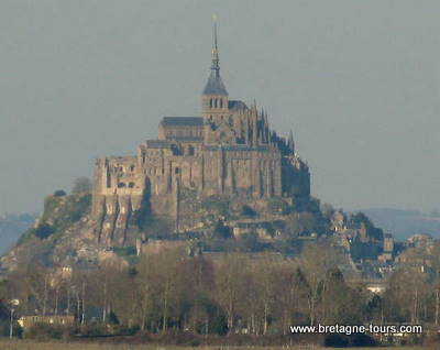 Le Mont saint Michel en hiver