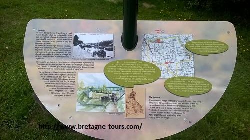 Panneau expliquant l'histoire du canal d'Ille et Rance