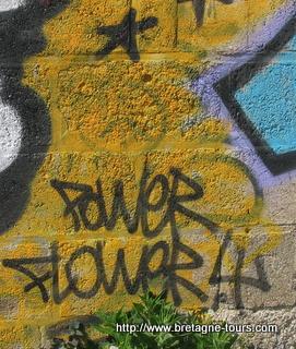 Le power flower d'un graffeur du canal saint Martin