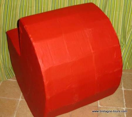 Rocking chair en carton