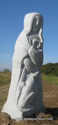 Photographie de la statue de Saint Brieuc