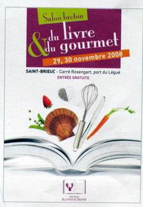 Affiche du salon breton du livre et du gourmet