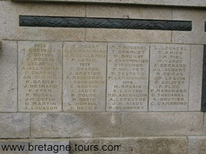 soldats morts de 1916, 17 et 18  dans une petite commune bretonne