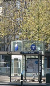 Station du métro Sainte Anne à Rennes