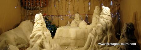 Creche de Noël en sable