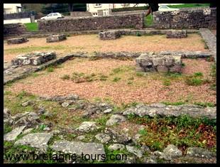 vestiges de la cathédrale de Saint Servan
